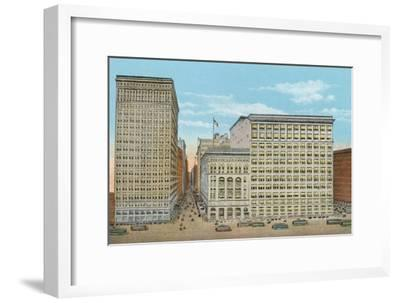 Marshall Field and Company, Retail Stores, Wabash and Washington--Framed Photographic Print