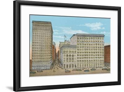 Marshall Field and Company, Retail Stores, Wabash and Washington--Framed Photographic Print