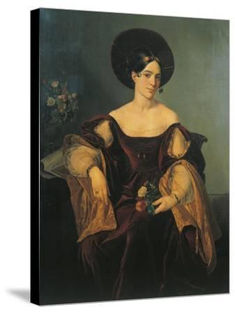 Italy, Milan, Portrait of French Mezzo-Soprano Maria Malibran--Stretched Canvas Print