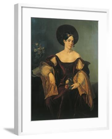 Italy, Milan, Portrait of French Mezzo-Soprano Maria Malibran--Framed Giclee Print