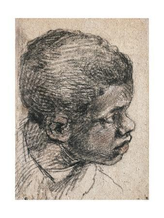 Head of Negro Boy, Paolo Caliari known as Veronese--Framed Giclee Print