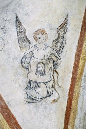 Detail from Vault Chapel with Angel and Symbol of Passion, La Vigne Castle--Stretched Canvas Print