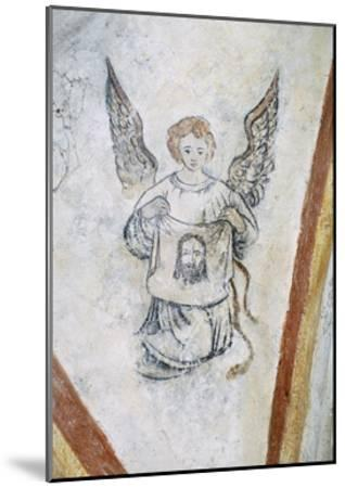 Detail from Vault Chapel with Angel and Symbol of Passion, La Vigne Castle--Mounted Giclee Print