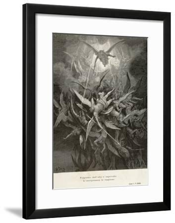 The Fall of Angels, Scene from Paradise Lost by John Milton--Framed Giclee Print