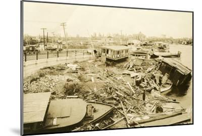 Miami River at Ramp to 5th Street Bridge, after the Hurricane, 1926--Mounted Photographic Print