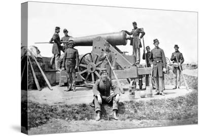 New York Artillerymen with a Heavy Gun in Fort Corcoran, Spring 1862--Stretched Canvas Print