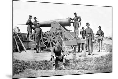 New York Artillerymen with a Heavy Gun in Fort Corcoran, Spring 1862--Mounted Photographic Print
