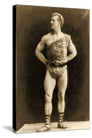 Eugen Sandow, in Classical Ancient Greco-Roman Pose, C.1897--Stretched Canvas Print