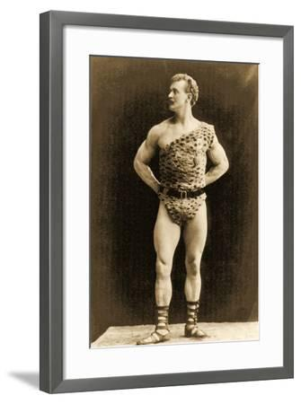Eugen Sandow, in Classical Ancient Greco-Roman Pose, C.1897--Framed Photographic Print