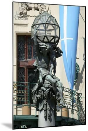 Atlas on the Portal of the Municipal House, Prague, Czech Republic--Mounted Photographic Print