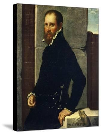 Portrait of Gerolamo Vertova by Giovanni Battista Moroni--Stretched Canvas Print