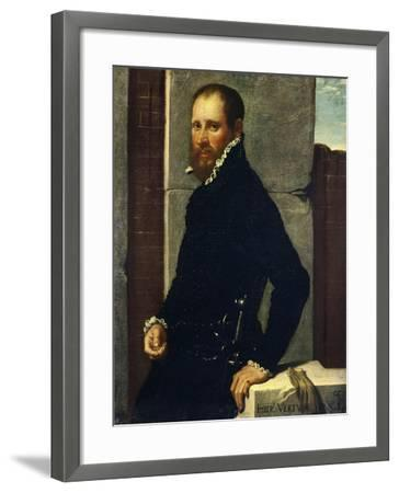 Portrait of Gerolamo Vertova by Giovanni Battista Moroni--Framed Giclee Print