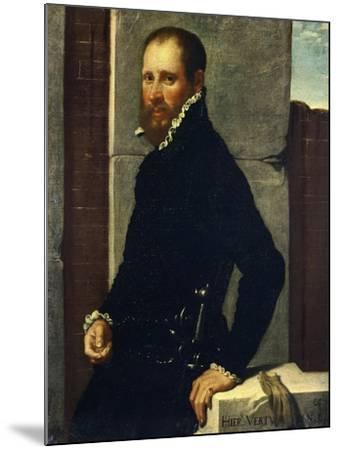 Portrait of Gerolamo Vertova by Giovanni Battista Moroni--Mounted Giclee Print