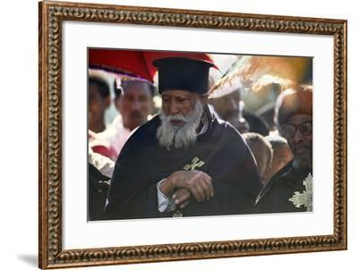 Priests in Procession for Timkat, the Feast of the Epiphany--Framed Photographic Print