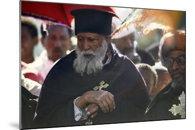 Priests in Procession for Timkat, the Feast of the Epiphany--Mounted Photographic Print