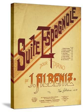 Title Page of Score for Suite Espanola, by Isaac Albeniz--Stretched Canvas Print