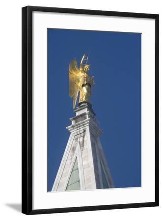 Statue Atop St Mark's Campanile, St Mark's Square, Venice--Framed Photographic Print