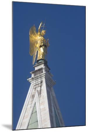 Statue Atop St Mark's Campanile, St Mark's Square, Venice--Mounted Photographic Print