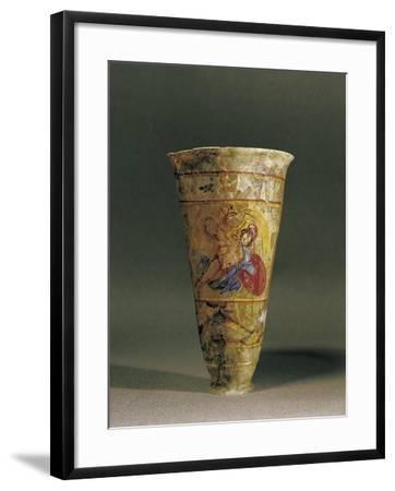 Egypt, Alexandria, Painted Tumbler with a Mythological Scene--Framed Giclee Print