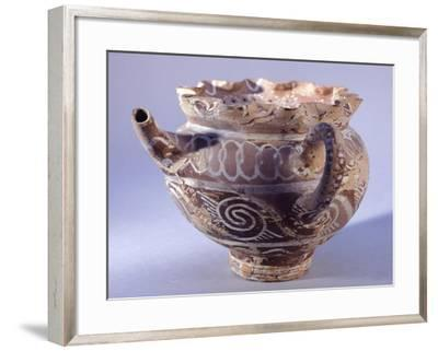Spout Vase, Kamares-Style Pottery from Phaistos Palace, Crete--Framed Giclee Print