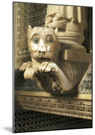 Guarding Lion, Detail of Decorations, San Miniato Al Monte--Mounted Giclee Print