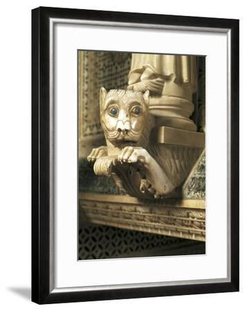 Guarding Lion, Detail of Decorations, San Miniato Al Monte--Framed Giclee Print