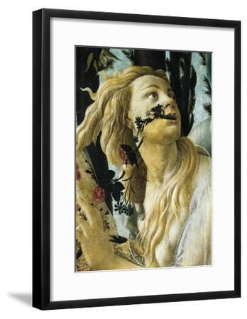 Nymph Cloris, Detail of Allegory of Spring by Sandro Botticelli--Framed Giclee Print