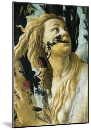 Nymph Cloris, Detail of Allegory of Spring by Sandro Botticelli--Mounted Giclee Print