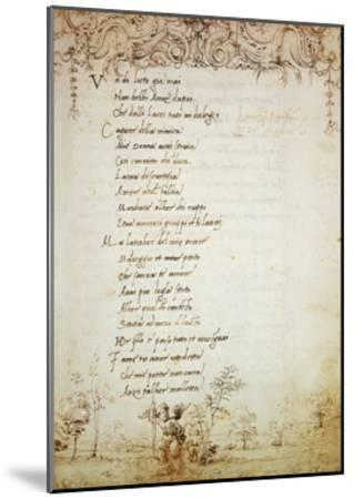 Rhyme in Form of Ballad, Collection of Lorenzo De Medici--Mounted Giclee Print