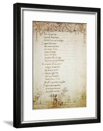 Rhyme in Form of Ballad, Collection of Lorenzo De Medici--Framed Giclee Print