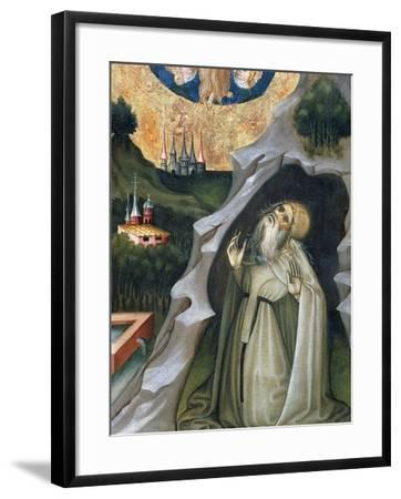 Hermit in Ecstasy, Detail from the Altarpiece of St Mary Magdalene--Framed Giclee Print