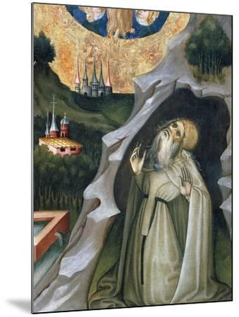 Hermit in Ecstasy, Detail from the Altarpiece of St Mary Magdalene--Mounted Giclee Print