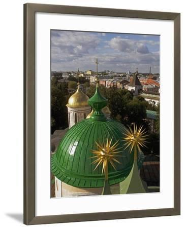 The Domes of Monastery of Transfiguration of Saviour--Framed Giclee Print