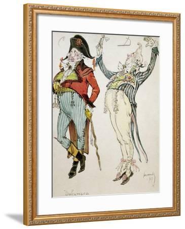 Costume Sketch by Caramba, Pseudonym of Luigi Sapelli--Framed Giclee Print