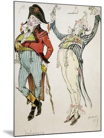 Costume Sketch by Caramba, Pseudonym of Luigi Sapelli--Mounted Giclee Print