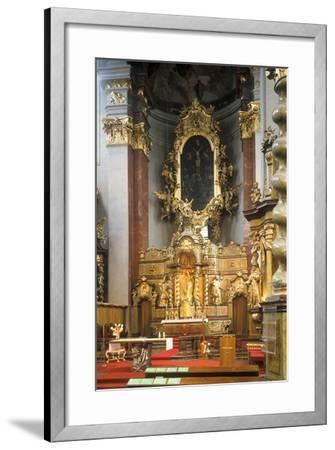 Main Altar of the Church of St. Giles in Prague, Czech Republic--Framed Photographic Print