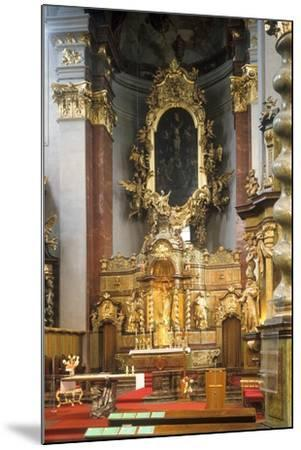 Main Altar of the Church of St. Giles in Prague, Czech Republic--Mounted Photographic Print