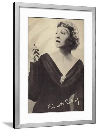 Claudette Colbert, French-Born American Actress and Film Star--Framed Photographic Print