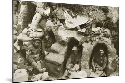 Our Men are Very Comfortable in the Old German Dug-Outs, 1916--Mounted Photographic Print