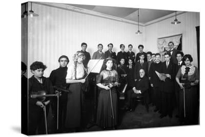 A Group of Students at the St. Petersburg Conservatoire, 1912--Stretched Canvas Print