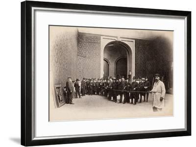 The Rope at the Salon Des Artistes Français, May 1903--Framed Photographic Print