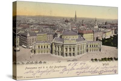 Postcard Depicting a General View of the City of Vienna--Stretched Canvas Print