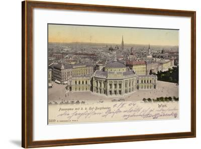 Postcard Depicting a General View of the City of Vienna--Framed Photographic Print