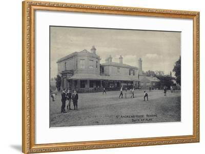 Boys at Play, St Andrew's Home, Reading, Berkshire--Framed Photographic Print