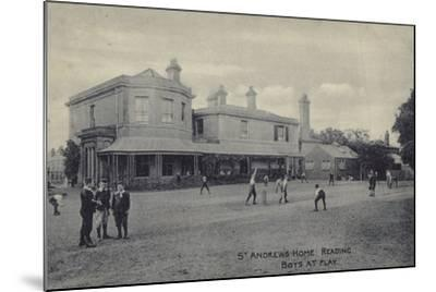 Boys at Play, St Andrew's Home, Reading, Berkshire--Mounted Photographic Print
