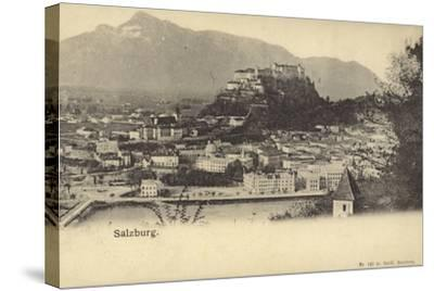 Postcard Depicting a General View of the City of Salzburg--Stretched Canvas Print