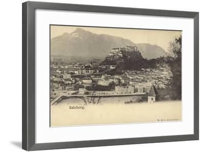 Postcard Depicting a General View of the City of Salzburg--Framed Photographic Print