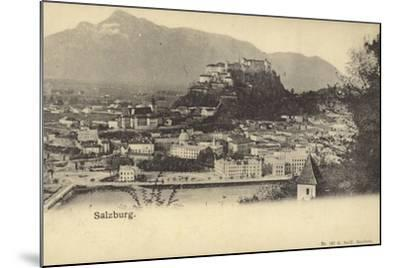 Postcard Depicting a General View of the City of Salzburg--Mounted Photographic Print