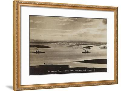 German High Seas Fleet Interned at Scapa Flow, Orkney, 28 November 1918--Framed Photographic Print