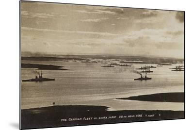 German High Seas Fleet Interned at Scapa Flow, Orkney, 28 November 1918--Mounted Photographic Print
